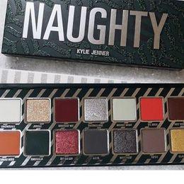 Wholesale Christmas Eyeshadow - 2018 NEW Kylie Cosmetics Holiday Palettes Naughty or Nice Eyeshadow Palette for Christmas Gift 14 Colors Eye shadow Palette 90%off