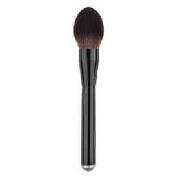 Wholesale Goat Big - Wholesale-1PC New Pro Kabuki Soft Goat Hair Brush Makeup Blush Big Power Face Contour Brush Foundation Make Up Tool Aluminum Brushes GUB#
