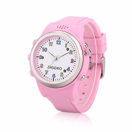 Wholesale Russian Speakers - Wholesale- 2017 Diggro Kids Smart Watch GPS Speaker Children Watch Activity Sport Tracker SOS Call SIM Card Phone Watch For Android and IOS