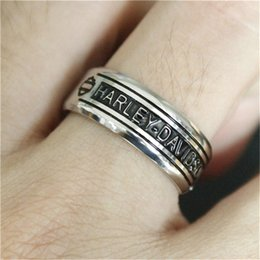 Wholesale Motorcycle Jewelry Rings - 1pc Size 7-14 Unisex Motorcycles Biker Style Ring 316L Stainless Steel Jewelry Motorbiker Hot Selling Ring