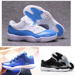 Wholesale Basket Ball Shoes Cheap - New Mens Basketball Shoes 11 Concord Bred Space Legend Blue Basket Ball Shoes Sneakers Boots 11s Shoes Cheap