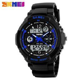 b111b7019ef Moda Skmei Esportes Marca Watch Men s Shock Resistant Quartz Relógios de  pulso Digital e análogo Militar LED Relógios casuais