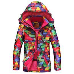 Wholesale Colorful Women Suits - Wholesale- Cheap good Colorful Women Skiing Clothing hoodie jacket Waterproof Windproof Ski Suit Ladies Snowboard Jackets Snow Suit