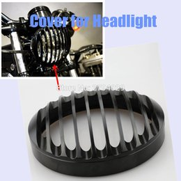 Wholesale Cover For Motorcycle Honda - Free Shipping CNC Aluminum Headlight Grill Cover For Motorcycle Harley Sportster XL883 XL1200 Headlight Custom