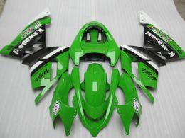 Wholesale Kawasaki Ninja Body Kit Parts - Aftermarket body parts fairing kit for Kawasaki ninja ZX10R 2004 2005 green black fairings set ZX10R 04 05 IT23