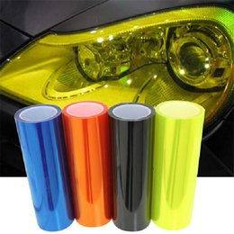 Wholesale Head Light Tint - 30cmx100cm Car Headlights Taillights Lights Tint Protective Vinyl Film Stickers Accessories Changing Color