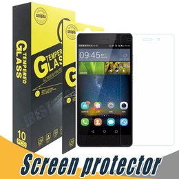 Wholesale 5c Screen Protectors - Shockproof Tempered Glass Screen Protector For Huawei Honor 8 Lite V8 V9 8 Pro 3C Play 3C 4C 5C 4A 3X Screen Clear Film Protection Wit
