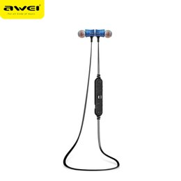 Wholesale Awei Earphone - Awei A921BL Bluetooth Wireless Headphones Noise Cancel Reduction Sports Headphone Earphone Bluetooth 4.1 Headset Stereo Earbuds with Mic