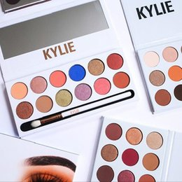 Wholesale Eye Whitening - DHL Newest The Royal Peach Palette Kylie Jenner Cosmetics Kyshadow eye shadow Kit 12 colors Eyeshadow Bronze and Burgundy Palette
