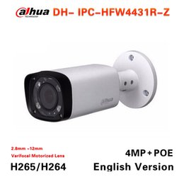 Wholesale Infrared Wire Camera - Free shipping Dahua IPC-HFW4431R-Z replace IPC-HFW4300R-Z 2.7mm ~12mm lens network camera 4MP IR ip camera POE cctv camera