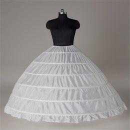 Wholesale Hoop Petticoat Plus Size - New Arrival White Bride Petticoats Ball Gown Large 6-hoops Underskirt Formal Dress Crinoline Plus Size Wedding Accessories