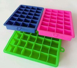Wholesale Wholesale Hot Tubs - Hot 24 grid Cube Mold Square Shape Silicone Ice Tray Fruit Ice Cube Ice Cream Maker Kitchen Bar Drinking Accessories