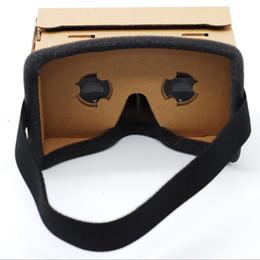 iphone de los vidrios 3d de la cartulina Rebajas Cajas de cartón VR Boxes Gafas 3D Cajas de papel DIY Teléfono realidad virtual Gafas de visión 3D para teléfono inteligente iphone 7 6 6s más USZ018