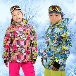 Wholesale Waterproof Jacket Girls - Wholesale- Kids Ski Jackets Kids Clothes Ski Jacket Boys Girls Children Clothing Snowboarding Jacket Buy-direct-from-china For 110 To 164cm