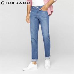Wholesale Hot Cotton Brand Capris - Wholesale-Giordano Men Brand Jeans Winter Fashion Casual Denim Pants Trousers Cotton Modern Straight Hot Sale Large Size