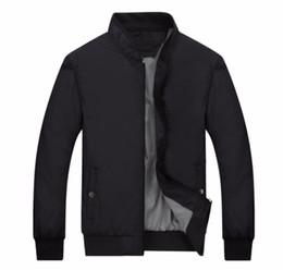 Wholesale Black Lotus Clothing - Wholesale- Port&Lotus Men Bomber Jacket Brand Clothing Thin Mens Jackets and Coats Solid Clothing Men Autumn Jacket 049 wholesale
