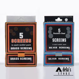 Wholesale Stainless Steel Pipe Screens - Smoking Brass Screens Screen Filters Net 5 Screens Each Wallet Pack Standard Size Metal Pipe Sell Silver Stainless Steel Screen Filter R7