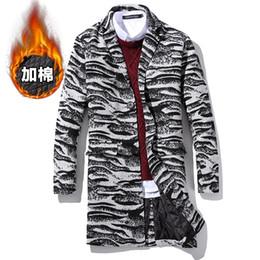 Wholesale Zebra Winter Coat - Wholesale- 2016 Men Winter Thick Warm Long Plaid Woolen Coats Wool & Blends New Fashion Male Zebra pattern Outwear Long Jackets Size5XL