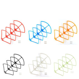 Wholesale Rc Airplane Blade Propeller - Colorful Propellers Protection For Syma X8c X8w X8g X8hg X8hw Rc Quadcopter Blade Frame Parts Drones Spare Parts