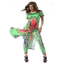 Wholesale Flower Positions - Summer Dresses Casual Sexy Positioning Fork Long Dress Is Printed In The Milk Silk Flowers Small Legs Nine Minutes of Pants Suit