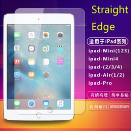 Wholesale Screen Pieces - For iPad Pro 10.5 9.7 iPad 5 Air 1 2 Mini 1 2 3 4 Tempered Glass Film Screen Protector Straight-edge