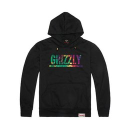 Wholesale Mens Graphic - Wholesale-2015 New Grizzly hoodies Diamond Supply mens Graphic Sweatshirt Grizzly brand crewneck pullover hooded sweatshirt thick,ZA065