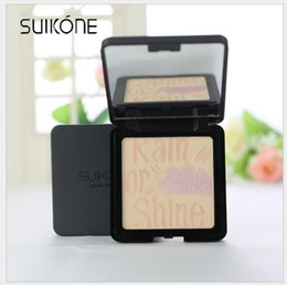 Wholesale Pressed Minerals - SUIKONE Nude makeup 4 colors shimmer minerals Silky concealer Korean press powder long lasting face care cosmetic powder Free Drop Shipping