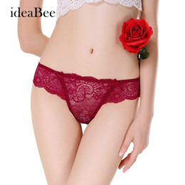 Wholesale T String Womens - [ideaBee] Hot Womens Underwear Women thongs Bragas Sexy Panties Women Thong Lace t word Pants Ladies briefs G-String M L XL