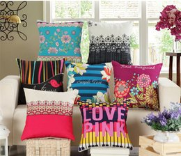 Wholesale Choice Fashion Case - 45CM Flowers Decorative Pillow Case 24 Choices Sofa Bed Car Cushion Seat Cover Fashion Throw Pillow Cover Livingroom Bedroom Decor