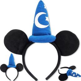 Wholesale Dance Supplies - mouse ears headband hoop dance festival Children mouse ears headband baby headband Christmas birthday party supplies NO1