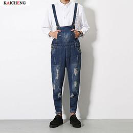 Wholesale Men S Button Suspenders - Wholesale- Free shipping 2016 new Brand denim overalls men, trousers suspenders, plus size denim jumpsuit, Plus Size S-XL