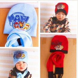Wholesale Soft Pikachu Hat - Poke Mon Winter Warm Cartoon Hat Scarf Set for kids Knitted Poke Pikachu Soft Warm Beanie Cap Long Scrarves for Baby 3-10 years kids free