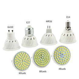 Wholesale Growing Room - E27 E14 MR16 GU10 Lampada LED Bulb 110V 220V Bombillas LED Lamp Spotlight 48 60 80 LED 2835 Spot cfl Grow Plant Light