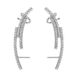 Wholesale Ear Cuffs Cz - KIVN Womens Fashion Jewelry CZ Cubic Zirconia Ear Cuff Ear Crawler Climber Earrings Girls Mothers Day Birthday Christmas Gifts