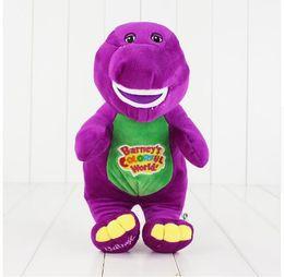 Wholesale Plush Barney Friends - Singing Friends Dinosaur Barney Sing I LOVE YOU Song Plush Doll Toy Christmas Gift For Children Dinosaur Toys 28cm KKA2791