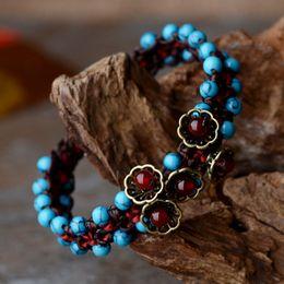 Wholesale agate bangle jade - Wholesale-Bracelet For Women 2016 New Accessories Agate Wax Jade Line Trendy Retro Bracelets Amp Bangles Fine Jewelry Bracelets Gift S032