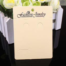 Wholesale Wholesale Display Cards - 200pcs white and Beige women&men necklace necklaces Jewelry Packaging Display Cards In Bulk