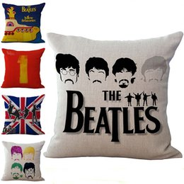 Wholesale Beatles Cases - The Beatles Pillow Case Cushion cover Linen Cotton Throw Pillowcases sofa Bed Pillow covers Drop shipping