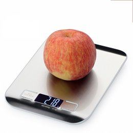 Wholesale Digital Scales 1g - 5kg 1G 10kg 1 G Kitchen Scale LCD Digital Stainless Steel Electronic Platform Household Scales Mini Portable Cooking Tool 30zb F