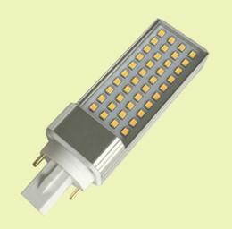 Wholesale Led Light Plc - Free Shipping 100pcs lot 9W E27 G23 G24(2pin,4pin) LED PL light Epistar SMD2835 leds indoor using commercial PLC bulb lamp