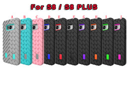 Wholesale Case Silicone Tire - Shockproof Tire Tyre Hybrid Soft TPU PC Hard Case For Samsung Galaxy S8 Plus   S8 Luxury Camo Silicone Armor Impact Phone Skin Cover 50pcs