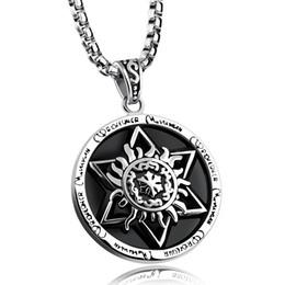 Wholesale Powerful Necklace - Powerful Pentacle Necklaces Pentagram Seal of Solomon Pendant