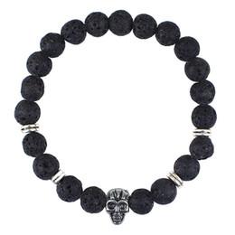 Wholesale bracelet animal leopard - tiger lion leopard Lava Stone Diffuser Jewelry Natural Volcanic Rock Charm Bracelets Prayer Beads Bracelet animal jewelry BY DHL