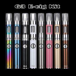 Wholesale E Cig Passthrough Kit - G3 Electronic Cigarette Original Greensound GS G3 Electronic Cigarette 900mah Dual USB Passthrough BDC Atomizer E Cig Kit