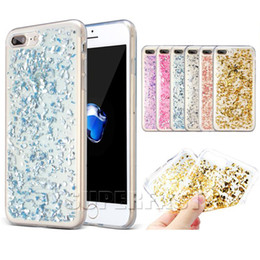 Wholesale Iphone Sparkle Cases - For iPhone X Bling Sparkle Colorful TPU Case Soft TPU Gel Back Cover Case For iPhone 7 Galaxy S7 Edge with OPP Package