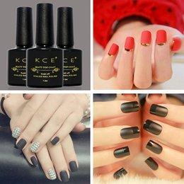 Wholesale Finish Cleaning - Wholesale- KCE 10ml Clean Matt Finish Matt Lacquer Gel Nail Polish Primer Finish Matte Nail Polish Strengthen Nail
