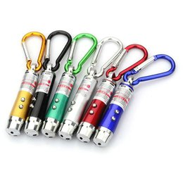 led pocket pen Promo Codes - 3 in 1 Mini Laser Pen Pointer LED Flashlight UV Torch Light With Keychain Working Camping Pocket LED Pen For Working Camping