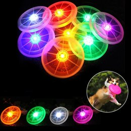 Wholesale Light Up Frisbee Wholesale - LED Flying Disk Light Up Frisbee Outdoor Sports 7 Colors Toys Pet Supplies Light Up Kids Sports Toys