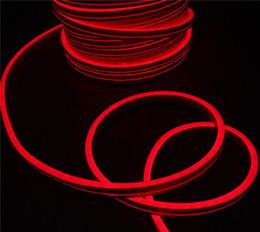 24v неон Скидка Лучшие продажи 20 м катушка плоская ультратонкая светодиодная неоновая подсветка Красная гибкая лента neon-flex rope 11x19mm 24v для украшения