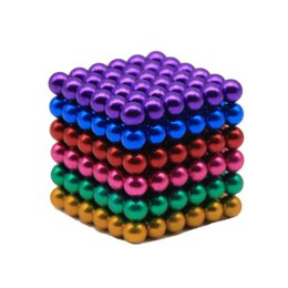 Wholesale Wholesale Stress Toys - 5MM Multicolor Magnetic Buckyballs Sculpture Ball Toys for Intelligence Development and Stress Relief DIY Magnet Block Decoration Toys